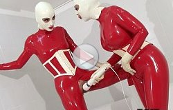 fetish liza red rubber